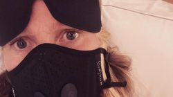 Gwyneth Paltrow Dons Face Mask In 'Panicked' Plane Pic Warning Of
