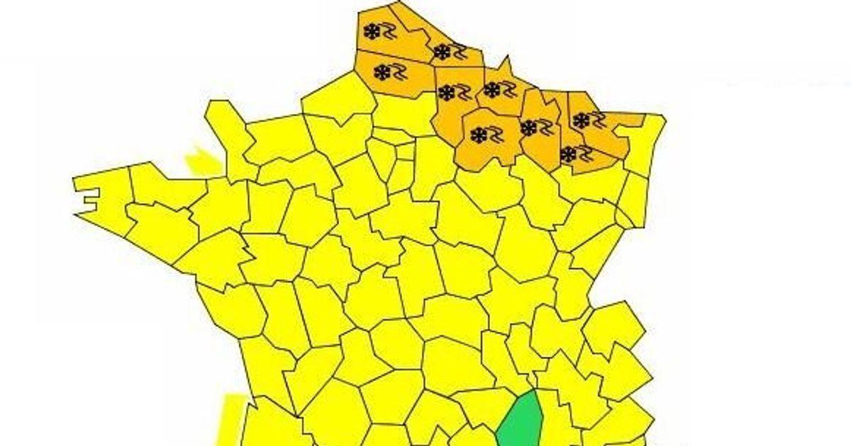 9 départements placés en vigilance orange neige-verglas