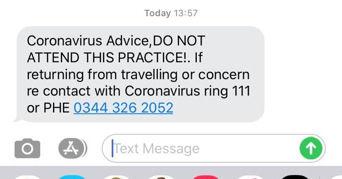 London GP Sends Hysterical Coronavirus Alert By Mistake: 'DO NOT ATTEND THIS PRACTICE'