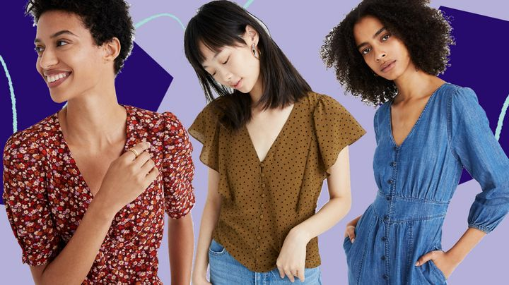 There's a lot of spring items peeking out from Madewell's sale section right now.