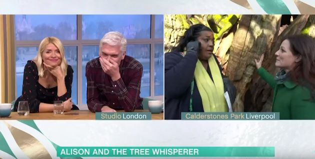 Holly Willoughby and Phillip Schofield were left amused at Alison's latest