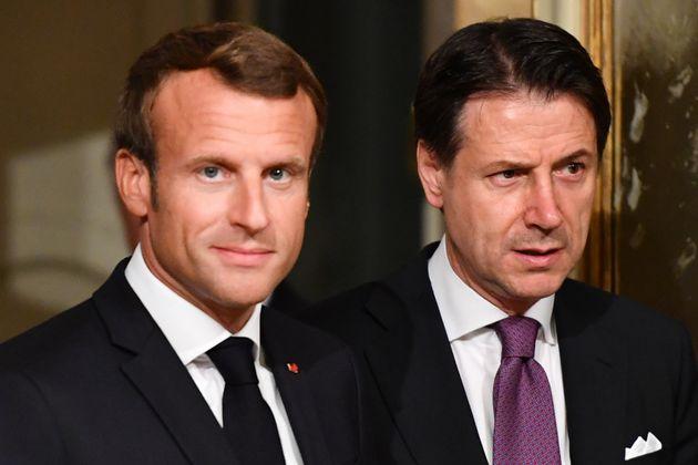 Emmanuel Macron et le premier ministre italien Giuseppe Conte en Septembre 2019 à