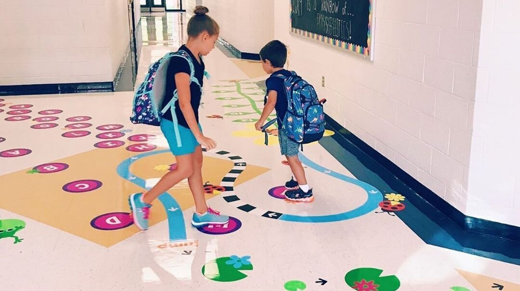 How Hallway Stickers Could Help Students Concentrate