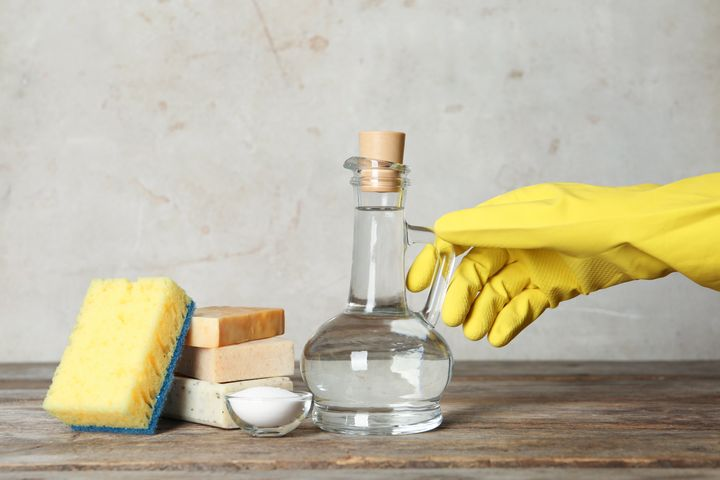 Make sure you use white vinegar -- not other types -- when cleaning appliances.