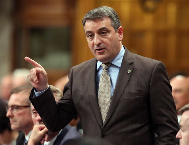 Paul Calandra stands in the House of Commons during question period on Parliament Hill in Ottawa on June...