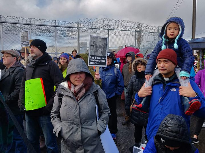 Sunday's protest at the immigrant detention center in Tacoma is a prelude to a larger gathering planned for Washington, D.C.,