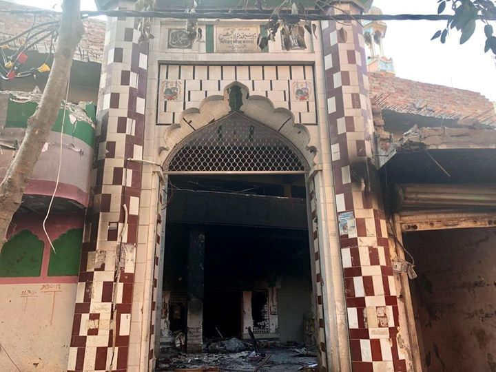 The Maulana Baksh mosque in Ashok Nagar was attacked on 25 February in the Delhi riots.