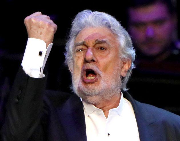 El tenor Plácido Domingo, durante una representación en Moscú