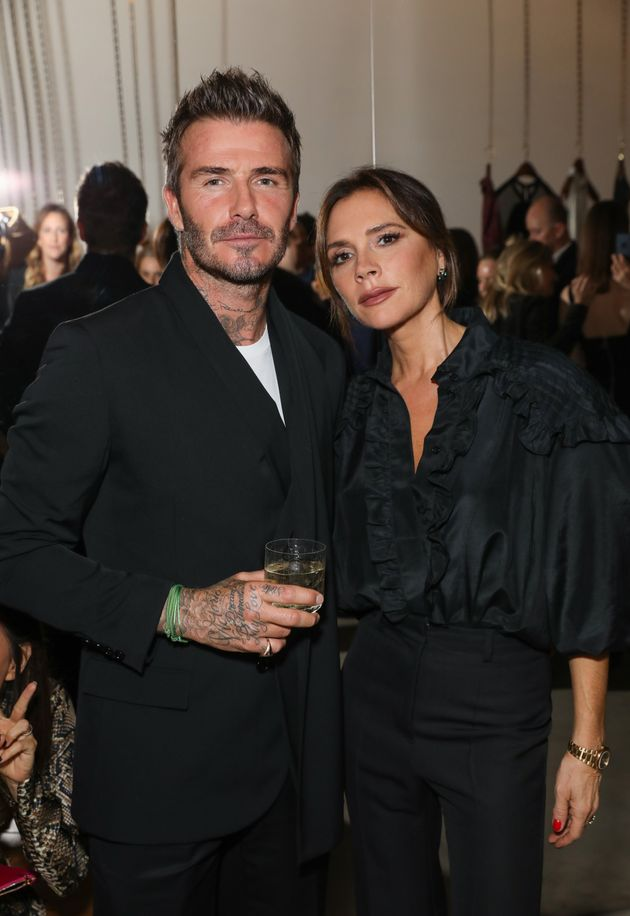 David and Victoria Beckham at an event last