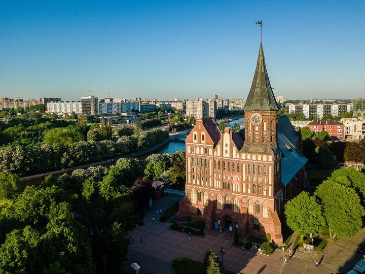 Πανοραμική άποψη του Καθεδρικού στο Καλίνινγκραντ στο νησί Καντ στη Ρωσία.