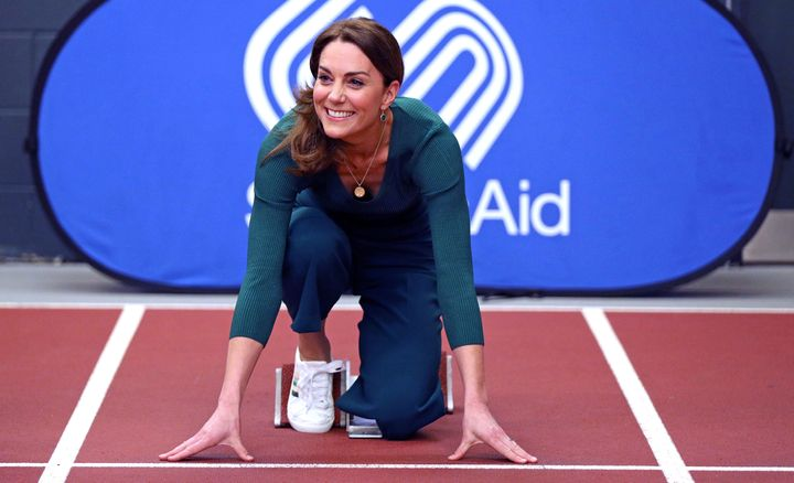 The Duchess of Cambridge in her M&S trainers.