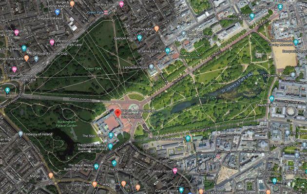 Palacio de Buckingham en Google