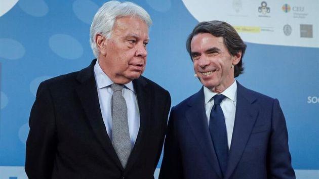 Aznar y González en un