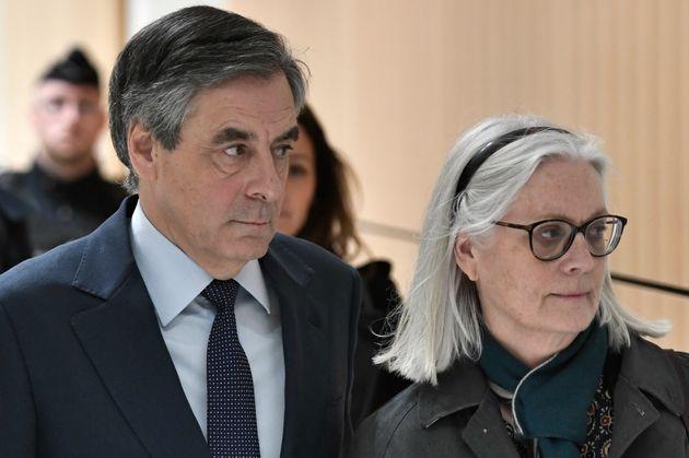 François et Penelope Fillon, ici arrivant au palais de justice de Paris le 27 février