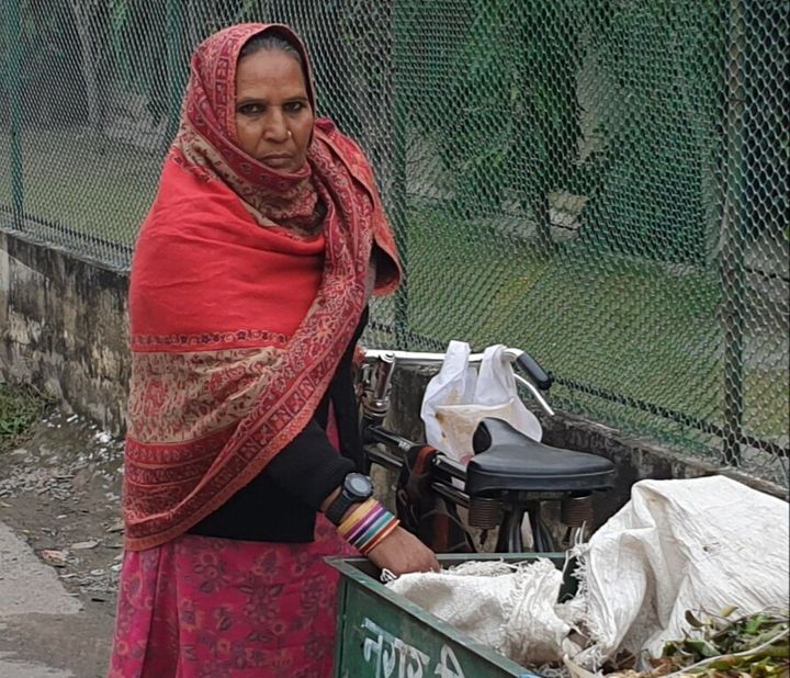 Bhanmati is one of a number of Indian sanitation workers who is being required to wear a GPS-enabled tracking device during h