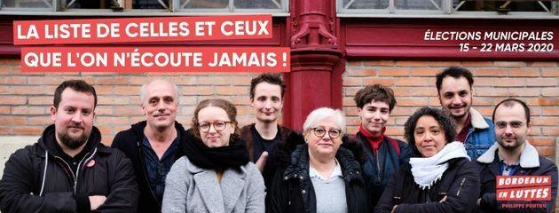 L'un des visuels de campagne de la liste Bordeaux En Luttes menée par Philippe Poutou à Bordeaux pour...