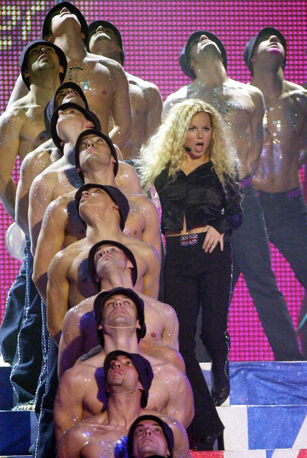 Geri Halliwell puts on a show at the Brit Awards in