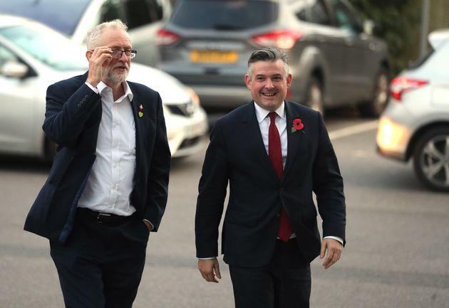 Labour leader Jeremy Corbyn (left) and Shadow Health Secretary Jon