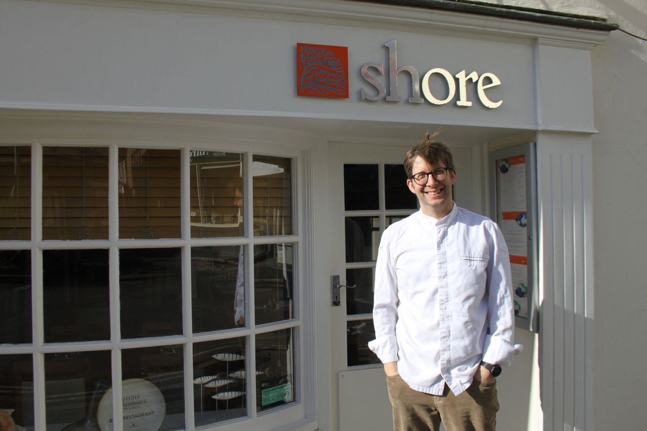 Bruce Rennie, owner of The Shore restaurant in Penzance, wishes the town would go further with its environmental campaigns.