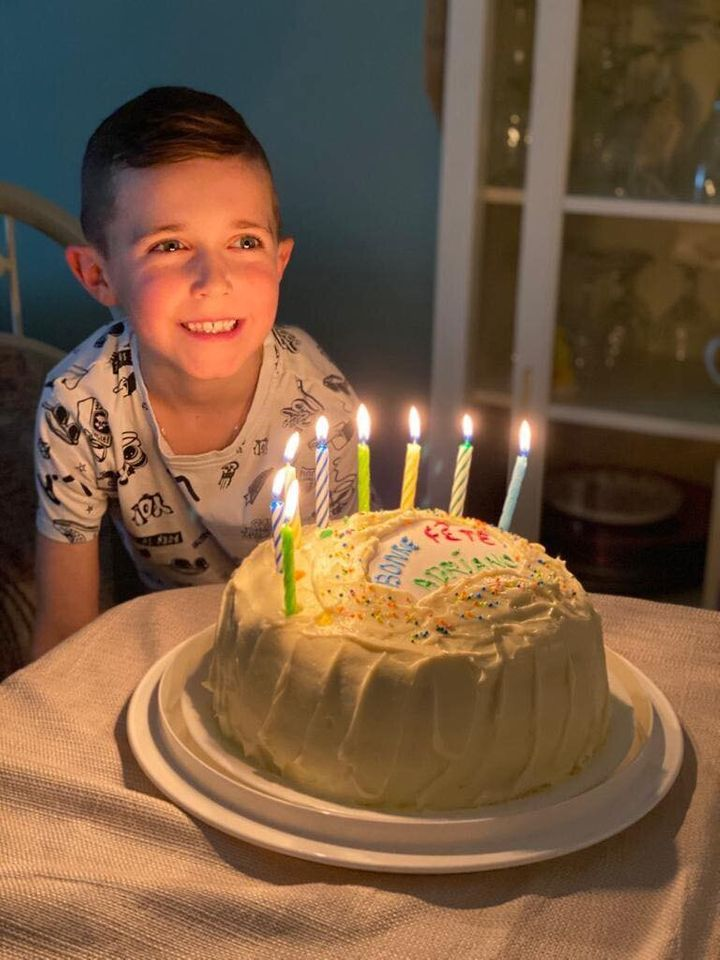 Claudia Francisco's son Adriano, who this year will be celebrating his eighth — or his second — Feb. 29 birthday.