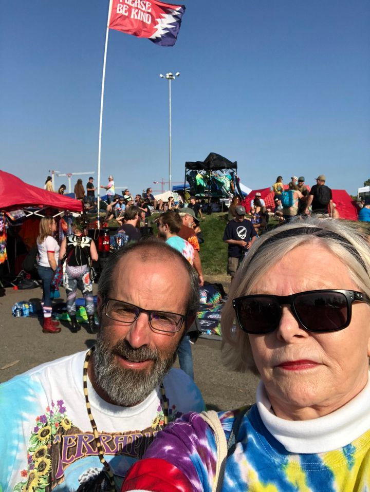 Matt and Judy on Shakedown Alley at the Dead & Company show at Shoreline Amphitheater in Mountain View, California, in Ju