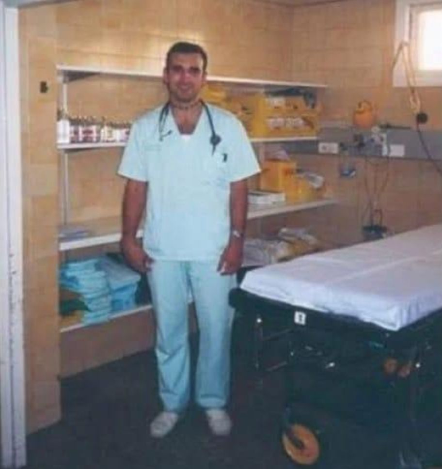 Joan Pons Laplana who came over from Spain to work as a nurse in the UK. Joan in 1997 just after he finished...