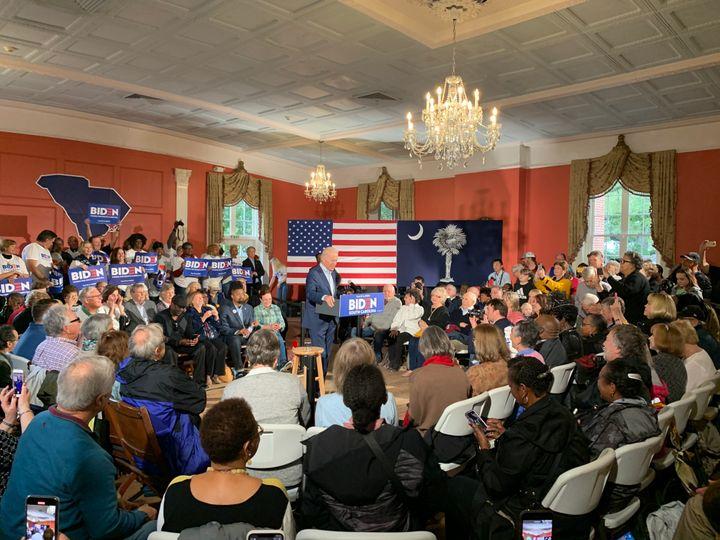 Joe Biden campaigns in Georgetown, South Carolina.