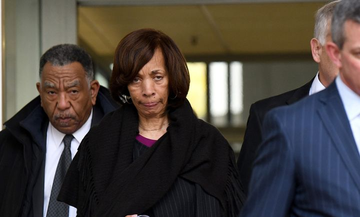 Former Baltimore Mayor Catherine Pugh leaves the federal courthouse after pleading guilty to conspiracy and tax evasion relat