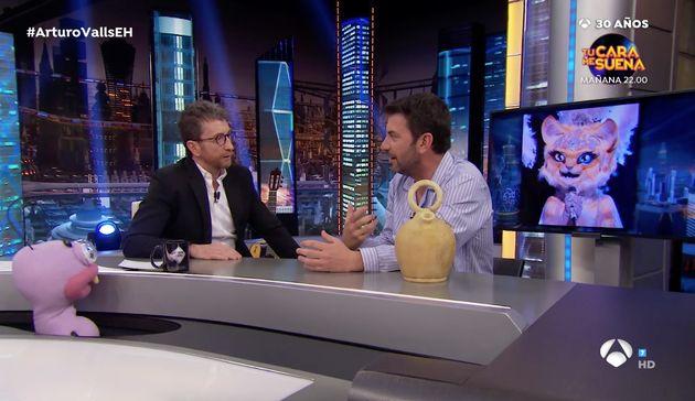 Arturo Valls y Pablo Motos en El