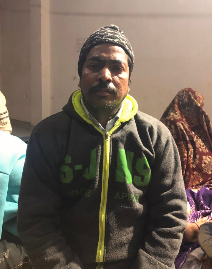 """Mohammad Yaasen (42), a resident of Govind Vihar locality in Karawal Nagar, in the premises of Al-Hind hospital on Wednesday evening. """"Because of those slogans by the mob, we had a doubt and so we came here. We didn't want someone else to get hurt because of us,"""" he said."""