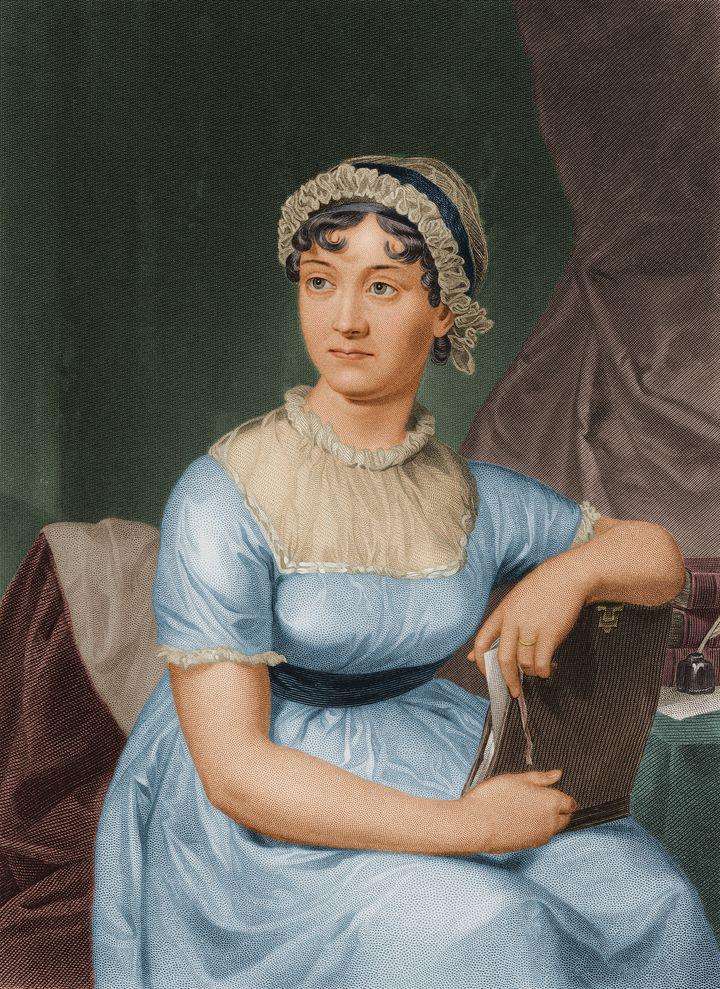 Retrato de Jane Austen, por volta de 1790.