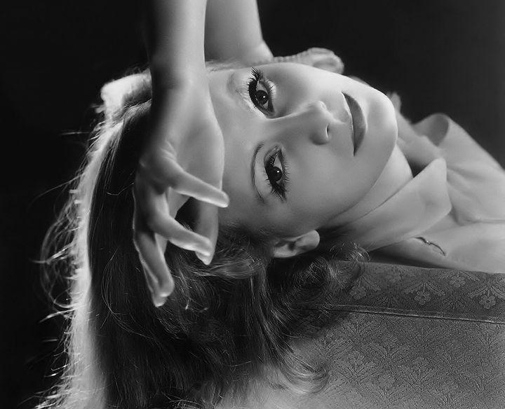 Greta Garbo no set do filme&nbsp;<i>Como Me Queres</i>, de 1932.