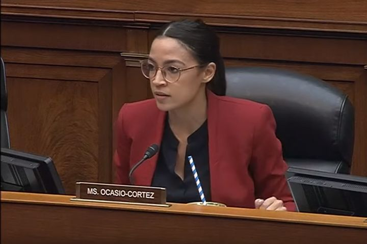 Rep. Alexandria Ocasio-Cortez (D-N.Y.), speaking at a House committee hearing Thursday, talked about her own faith and decrie