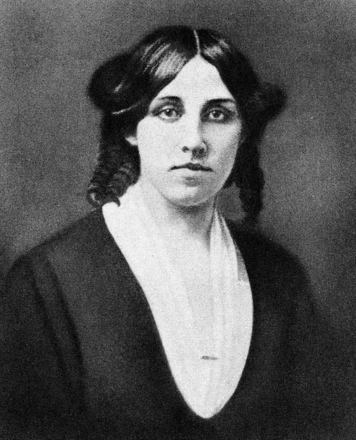 Retrato de Louisa May Alcott.
