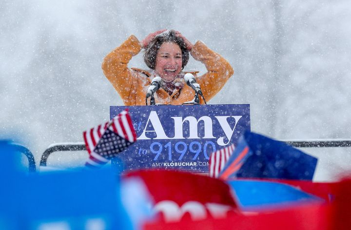 Sen. Amy Klobuchar announces her candidacy for the 2020 Democratic presidential nomination in February 2019.