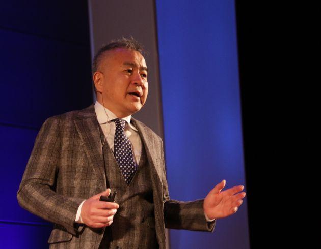 SB国際会議2020横浜でのセッションの一コマ。井上副社長の言葉に、会場は大きく反応した