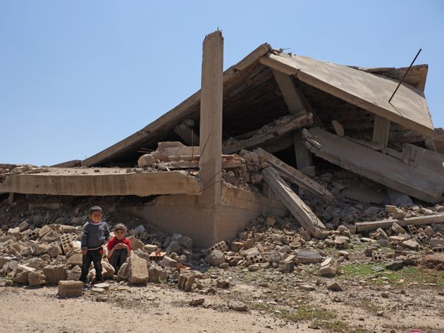 昨年取材で訪れた、シリア北部の街、テルタマール