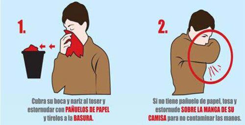 Cómo estornudar correctamente