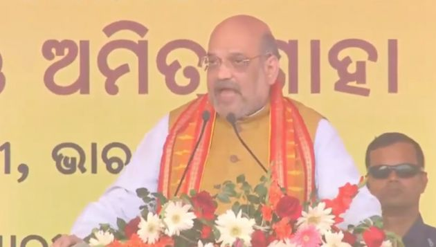 Home Minister Amit Shah at a rally in