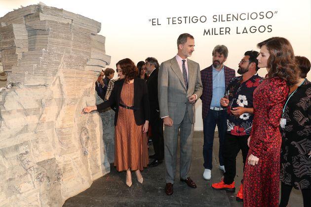 Díaz Ayuso y los reyes de España en