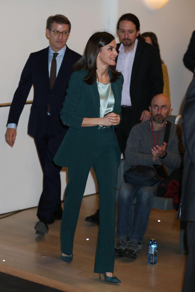 La reina Letizia, en el acto de proclamación del Premio Fundación Princesa de Girona