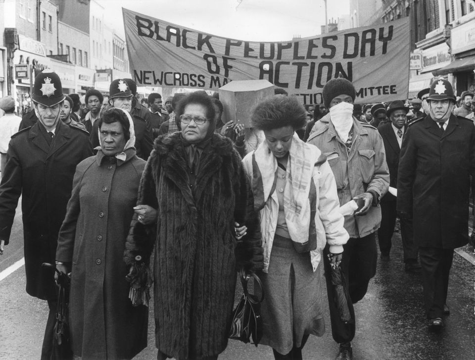 March 2, 1981: Grieving protesters march from New Cross to the House of Commons after 13 Black people...