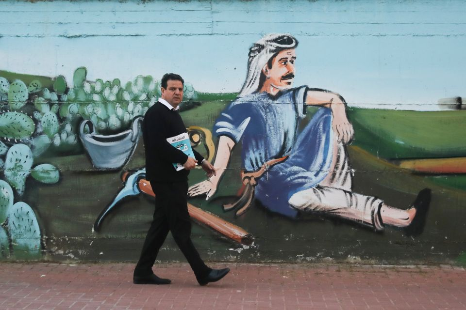 O Ayman Odeh, επικεφαλής του Ενιαίου Αραβικού Συνδυασμού (AP Photo/Mahmoud Illean)