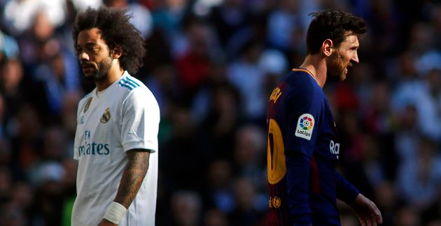 Marcelo y Leo Messi en el último 'clásico' en el