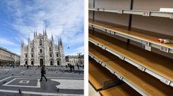 L'Italia dell'ansia: supermercati svuotati e alberghi
