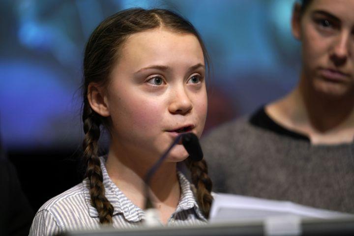 Les tresses de la militante écologiste suédoise Greta Thunberg sont devenues l'une de ses marques de commerce.