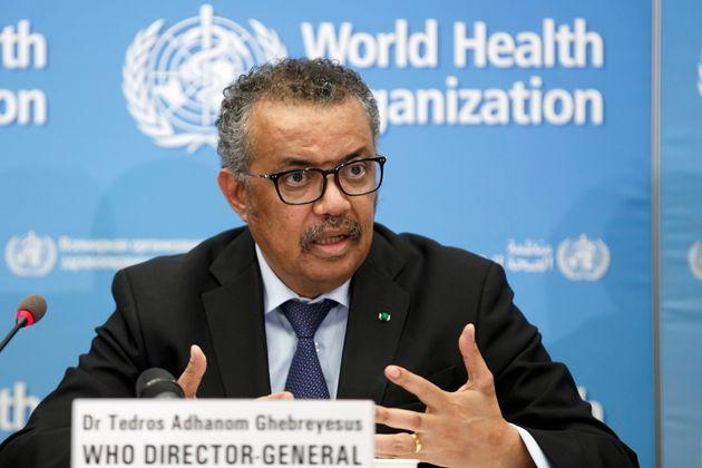 Tedros Adhanom Ghebreyesus, le directeur général de l'OMS en conférence de