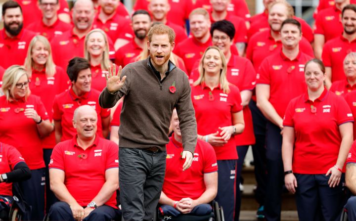Prince Harry at the launch of Team U.K. for this year's Invictus Games, which will be held in The Hague.
