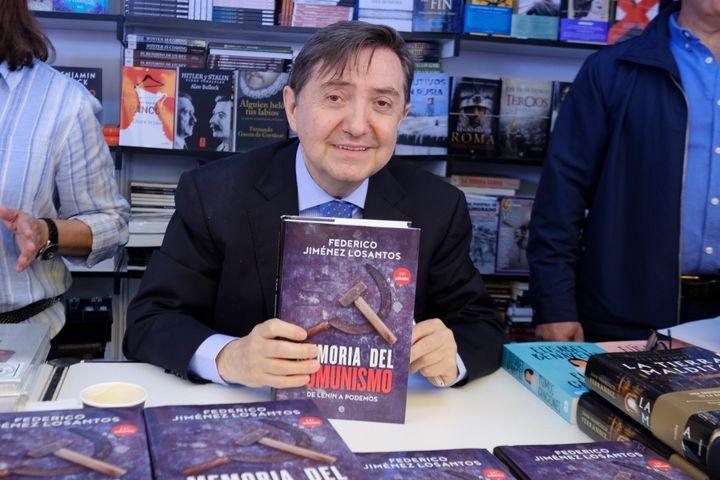 Federico Jiménez Losantos en la Feria del Libro de Madrid.