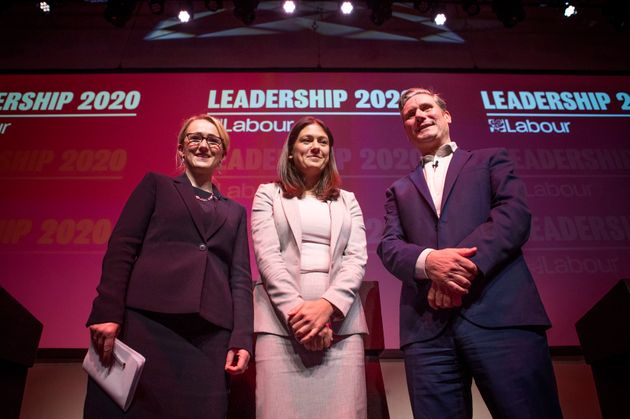 From left, Labour leadership candidates Rebecca Long-Bailey, Lisa Nandy and Keir